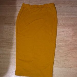 Orange fashion nova skirt